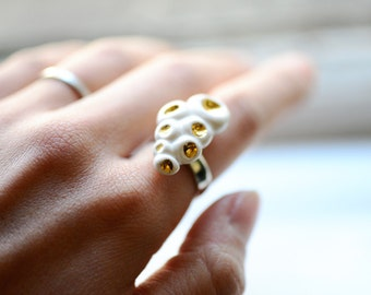 Gold Barnacle Small Cluster Ring