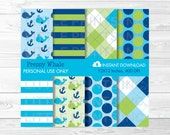 Cute Whale Digital Paper ...
