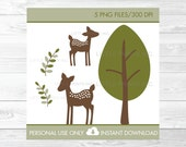 Cute Deer Clipart / Deer ...