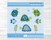 Cute Turtle Clip Art / Tu...