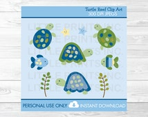 Turtle Reef Clipart Sea Turtle Clip Art PERSONAL USE Instant Download