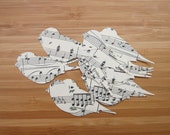 Vintage Sheet Music Paper Birds 25 pieces