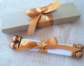 Scroll invitation, wedding invitation scroll, fairytale invitation, royal invitation, gold or copper, SAMPLE