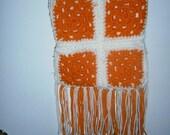 Orange and White Granny Square Tote Bag