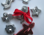 Vintage Metal Cookie Cutter Collection of Seven - Retro