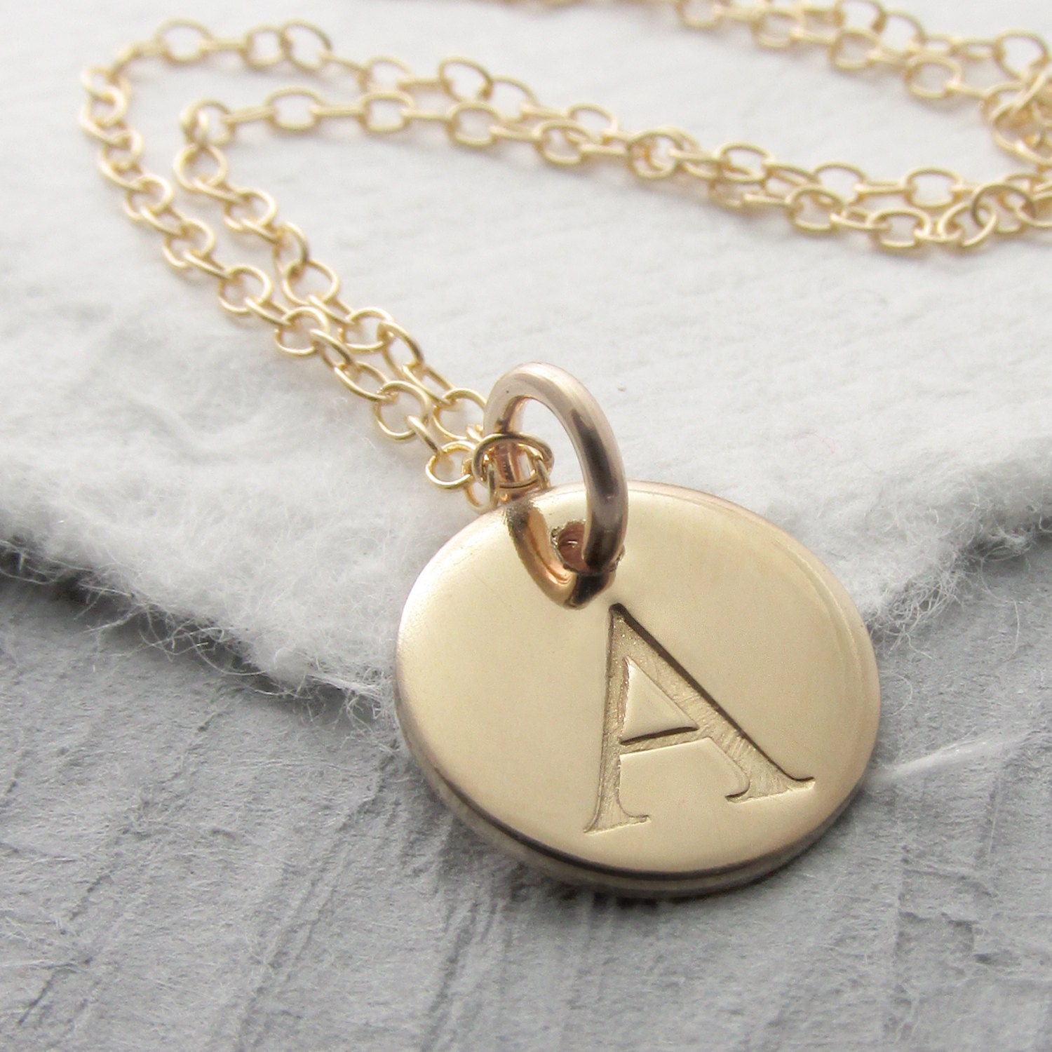 initial necklace personalized 14k gold solid gold charm. Black Bedroom Furniture Sets. Home Design Ideas