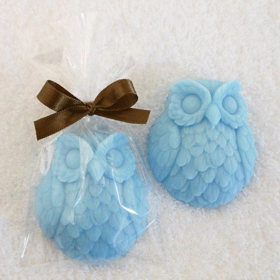 Owl Baby Shower Supplies: 40 Owl Soap Favors Baby Boy Baby Shower Baby Shower Favors