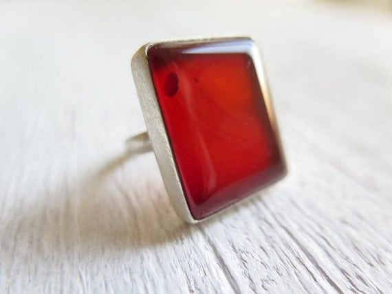20% SALE - AGATE // Sterling silver ring with natural Agate