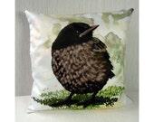 Pillow case Baby Blackbird 16x16 inch 40x40cm for throw pillow or accent pillow