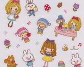 Kawaii Miki's Fairy Tale Sticker Sheet