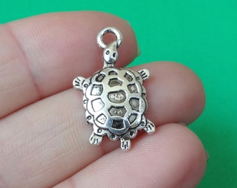 10 Turtle Charms 14.5x24.5x3mm ITEM:AD12