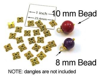 Antiqued Gold Metal Flower 5mm Bead Cap, Sold per 24 pc, 1021-18
