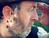 Halloween Pirate Ear Cuff - Black Pearl Ear Cuff - No Piercing Required - Ear Wrap For Men - Unisex