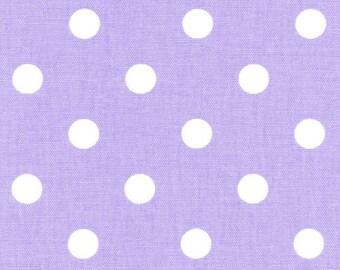 "SAMPLE SALE RUNNER 29"" Polka Dot White on lilac light purple Wedding Bridal Home Decor Chic"