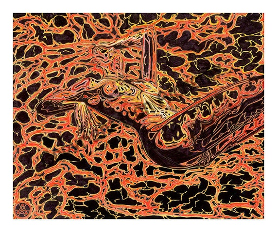 Fine Art Print Pele Lava Volcano Goddess