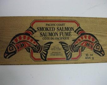 Vintage Smoked Salmon Sign