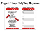 Vacation Planner - Magical Theme Park Trip Organizer - Mini Pages 5.5 x 8.5