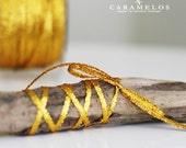 "1/8"" Gold Metallic ribbon twine 1/8"" 10 yards"