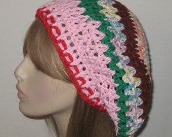 One of a Kind Slouchy Beret Dread Hat/Crochet Hat