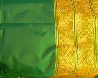 Vintage Fabric Green with Gold Design Boarder