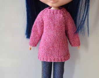 Knitted jumper to Your blythedoll