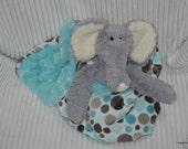 Security Blanket, baby blanket, luvi, lovie - Elephant