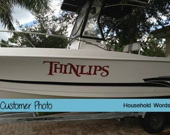 Custom Boat Name Decals for your Watercraft, Pontoon, fishing boat, Cutti, Jet Ski, Anniversary Gift for Husband, Personalized monogram