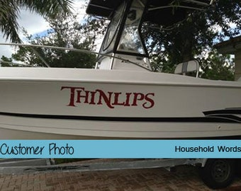 Kayak Vinyl Decal Sticker Kayak Name Stickers Custom Boat - Decals for pontoon boats