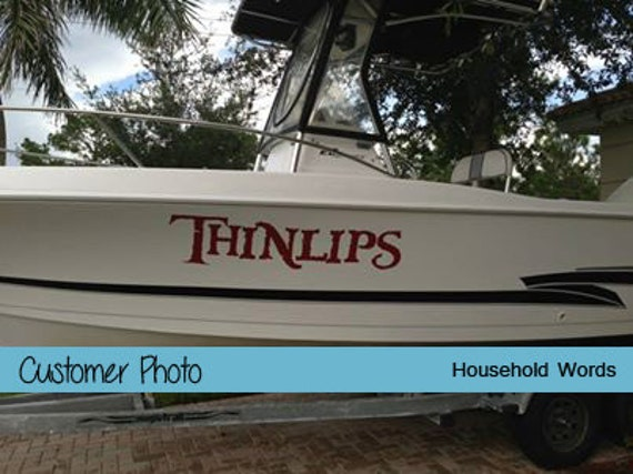 Custom Boat Name Decals For Your Watercraft Pontoon Fishing - Decals for pontoon boats