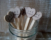 Wooden Drink Stirrers Personalized for Wedding Coffee Stirrer - Set of 25 - Item 1576