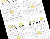 Yellow Baby Bingo-Print your own PDF INSTANT DOWNLOAD