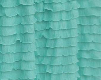 Ruffled Crib Skirt- Dust Ruffle - Mint Crib Skirt - Ruffle Mint Dust Ruffle - Ruffles Crib Skirt - Mint Green Skirt - Baby Girl Crib Bedding