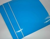 "Blue Vinyl Adhesive Sheets for plotting and cutting machines - Set of 10 - 9"" x 12"""