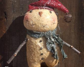 """Instant Download Primitive Snowman Ornie Epattern """"Frankie"""""""