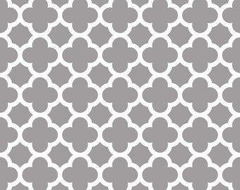 Quatrefoil in Gray (C435-40) - cut options available