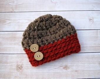 Baby Boy Hat, Newborn Boy Hat, Newborn Hat, Infant Beanie, Crochet Baby Hat, Infant Boy Hat, Baby Boy Hat, Baby Beanie, Newborn Beanie, Red,