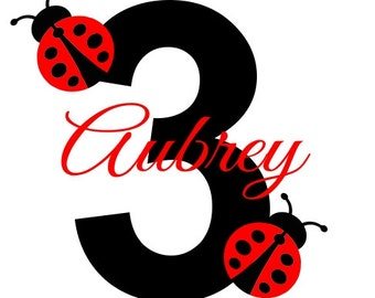 Ladybug Birthday Shirt or Bodysuit - Personalized Sibling Shirt