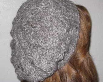 Knitting Pattern Crystal's Cabled Slouch Hat Womens
