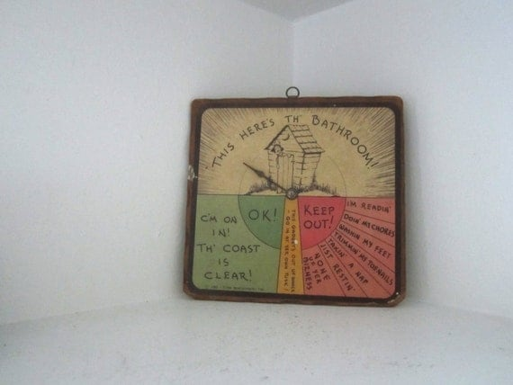 Bathroom Occupied Sign Of Vintage Hillbilly Outhouse This Here 39 S Th 39 Bathroom By