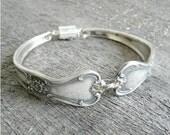 Silver Spoon Bracelet Silverware Jewelry- Signature Pattern