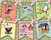 Vintage Nursery Rhyme  DIY Digital Garland Party Nursery Banner, Easy and Fun to Create