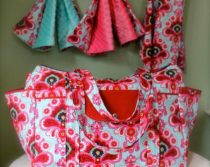 Large Big Diaper Bag Set for Twins or Triplets