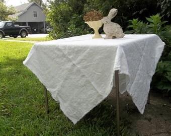 Rustic Washed Linen Tablecloth Napkins Handmade Custom Sizes Fabrics Wedding Decorations Table Decor