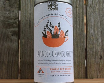 0427 Lavender Orange Grey 15 teabags, exotic tea crafted with only organic ingredients