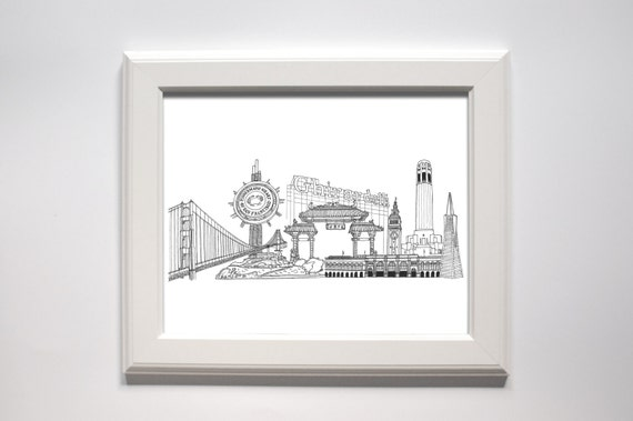 Holiday Sale // San Francisco Landmarks Print