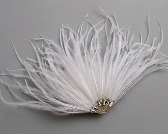 Crystal feather fascinator