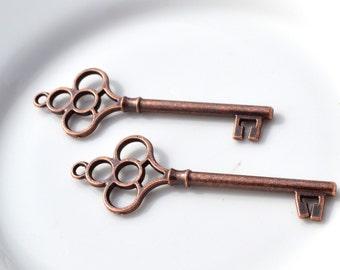 Copper Key Pendant  2