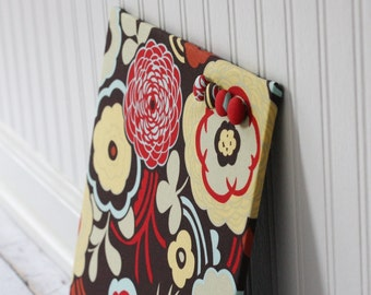 Fabric covered magnet board 12 inch x 12 inch covered in Mocca Fabric