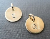 Gold Fill Add-on Initial Charm- Hand-Stamped Custom Letter - S197