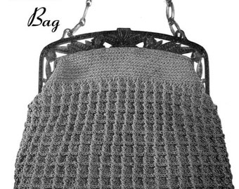 "Vintage Crochet Pattern 1930's Gimp Purse Pattern ""The Lassie"" -INSTANT DOWNLOAD-"